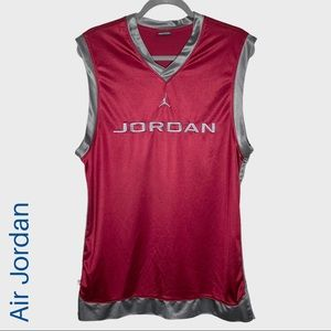 Air Jordan jumpman sleeveless maroon jersey